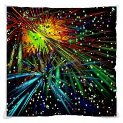 Exploding Fireworks Large Cushion Case (Single Sided)