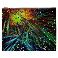 Exploding Fireworks Cosmetic Bag (xxxl)