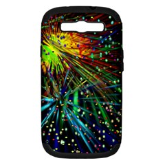 Exploding Fireworks Samsung Galaxy S Iii Hardshell Case (pc+silicone)