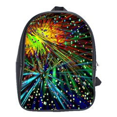 Exploding Fireworks School Bag (XL)