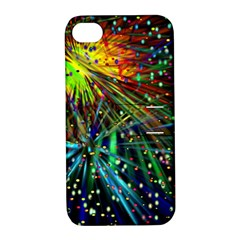 Exploding Fireworks Apple Iphone 4/4s Hardshell Case With Stand