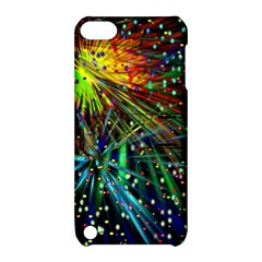 Exploding Fireworks Apple Ipod Touch 5 Hardshell Case With Stand