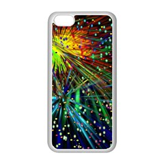 Exploding Fireworks Apple iPhone 5C Seamless Case (White)