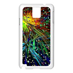 Exploding Fireworks Samsung Galaxy Note 3 N9005 Case (White)