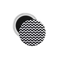 Black And White Zigzag 1.75  Button Magnet