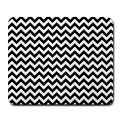 Black And White Zigzag Large Mouse Pad (Rectangle)