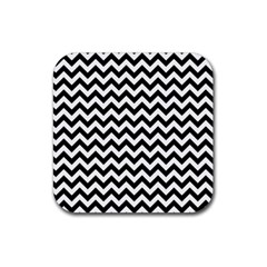 Black And White Zigzag Drink Coasters 4 Pack (Square)