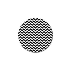 Black And White Zigzag Golf Ball Marker
