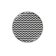 Black And White Zigzag Golf Ball Marker (for Hat Clip)