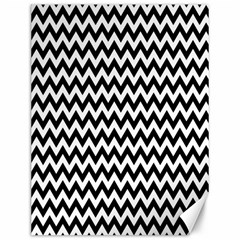 Black And White Zigzag Canvas 12  x 16  (Unframed)