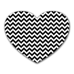 Black And White Zigzag Mouse Pad (Heart)