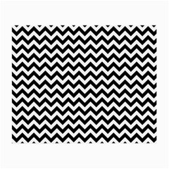 Black And White Zigzag Glasses Cloth (Small, Two Sided)