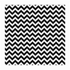 Black And White Zigzag Glasses Cloth (Medium, Two Sided)