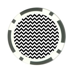 Black And White Zigzag Poker Chip