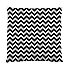 Black And White Zigzag Cushion Case (Two Sided)