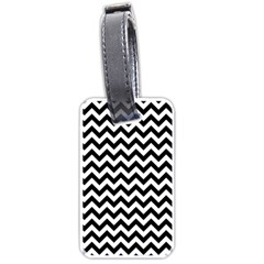 Black And White Zigzag Luggage Tag (one Side)