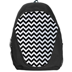 Black And White Zigzag Backpack Bag