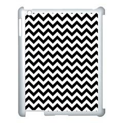 Black And White Zigzag Apple iPad 3/4 Case (White)