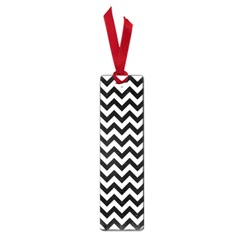 Black And White Zigzag Small Bookmark