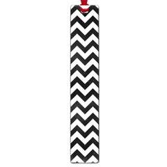 Black And White Zigzag Large Bookmark