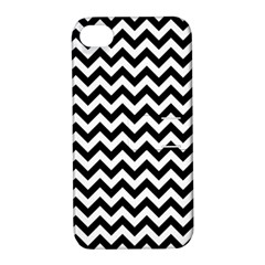 Black And White Zigzag Apple iPhone 4/4S Hardshell Case with Stand
