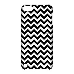 Black And White Zigzag Apple Ipod Touch 5 Hardshell Case With Stand