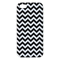 Black And White Zigzag Apple Iphone 5 Premium Hardshell Case