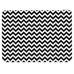 Black And White Zigzag Samsung Galaxy Tab 7  P1000 Flip Case