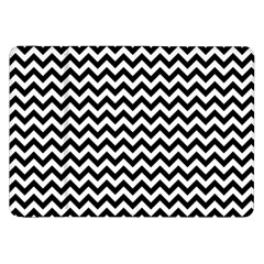 Black And White Zigzag Samsung Galaxy Tab 8.9  P7300 Flip Case