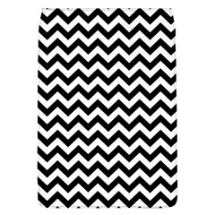 Black And White Zigzag Removable Flap Cover (Large)