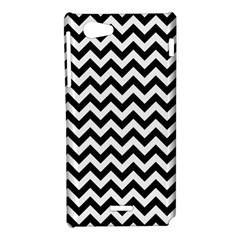 Black And White Zigzag Sony Xperia J Hardshell Case