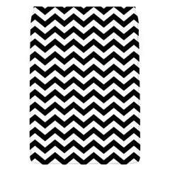 Black And White Zigzag Removable Flap Cover (Small)