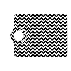 Black And White Zigzag Kindle Fire HD 7  (2nd Gen) Flip 360 Case