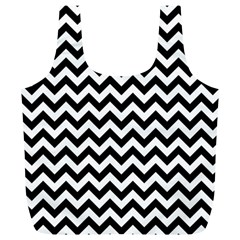 Black And White Zigzag Reusable Bag (XL)