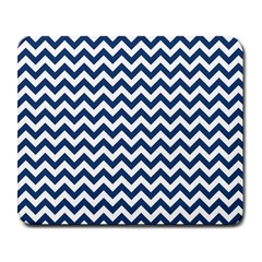 Dark Blue And White Zigzag Large Mouse Pad (rectangle)