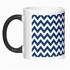 Dark Blue And White Zigzag Morph Mug
