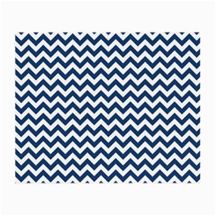 Dark Blue And White Zigzag Glasses Cloth (small)