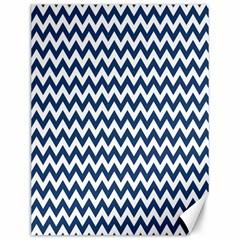 Dark Blue And White Zigzag Canvas 12  x 16  (Unframed)