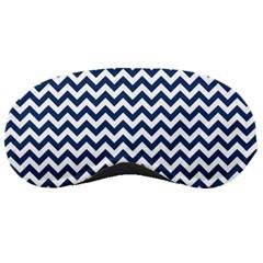 Dark Blue And White Zigzag Sleeping Mask