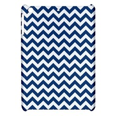 Dark Blue And White Zigzag Apple iPad Mini Hardshell Case