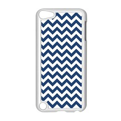 Dark Blue And White Zigzag Apple Ipod Touch 5 Case (white)