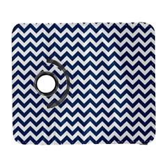 Dark Blue And White Zigzag Samsung Galaxy S  III Flip 360 Case