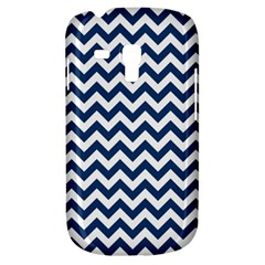 Dark Blue And White Zigzag Samsung Galaxy S3 Mini I8190 Hardshell Case