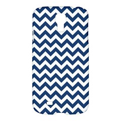 Dark Blue And White Zigzag Samsung Galaxy S4 I9500/I9505 Hardshell Case