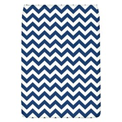 Dark Blue And White Zigzag Removable Flap Cover (large)