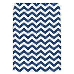 Dark Blue And White Zigzag Removable Flap Cover (small)