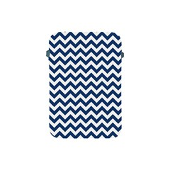 Dark Blue And White Zigzag Apple Ipad Mini Protective Sleeve