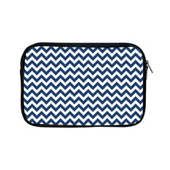 Dark Blue And White Zigzag Apple Ipad Mini Zippered Sleeve