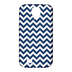 Dark Blue And White Zigzag Samsung Galaxy S4 Classic Hardshell Case (PC+Silicone)