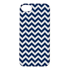 Dark Blue And White Zigzag Apple Iphone 5s Hardshell Case